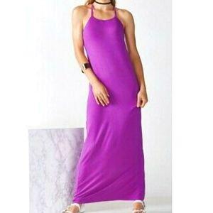 Fabletics lilac Neema maxi dress NWT
